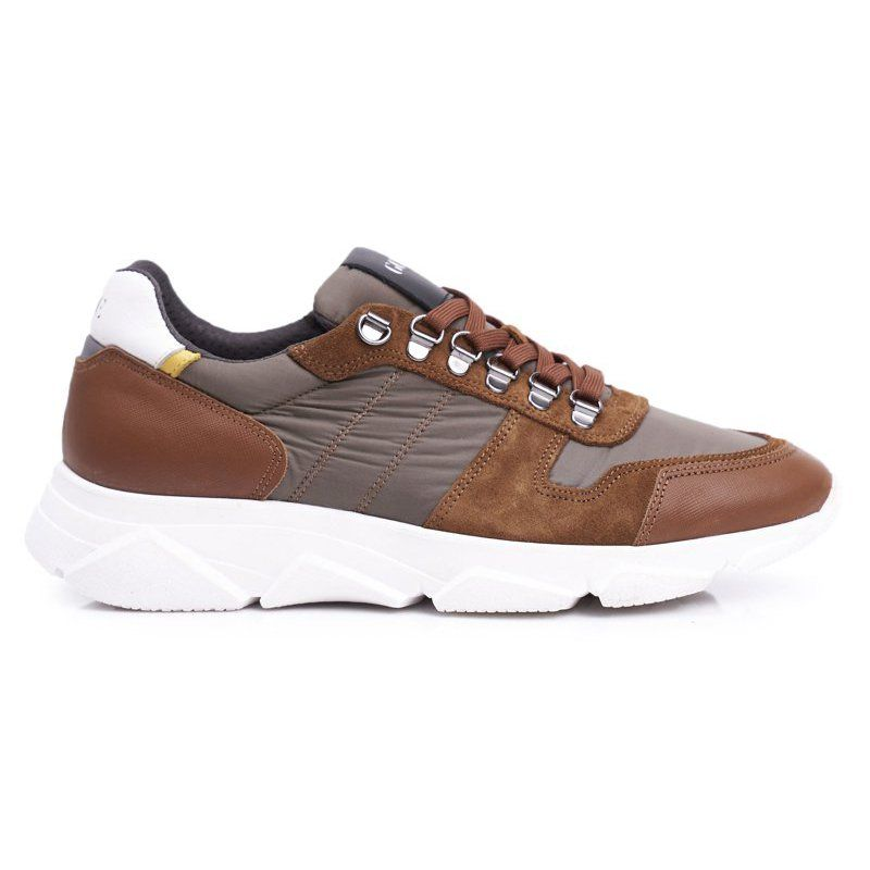 Goe Obuwie Sportowe Meskie Skorzane Brazowe Ff1n3021 Mens Casual Shoes Shoes Brown Leather Shoes