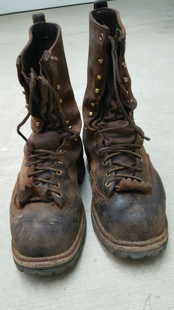 9d5cb8c73ed Details about Tall White's Boots Packer 10.5 Logging, Packing, Fire ...