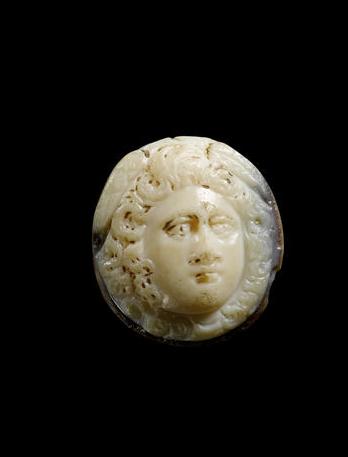 A Hellenistic onyx cameo of Medusa  Circa 3rd-2nd Century B.C.