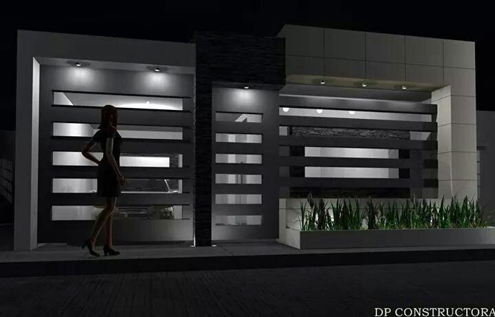Casa de un piso home casas modernas fachadas de casas for Fachadas de casas modernas pequenas de infonavit