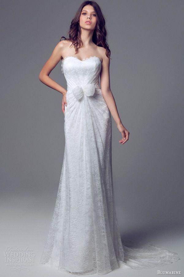 Blumarine Bridal 2014 Wedding Dresses | Strapless lace wedding dress ...
