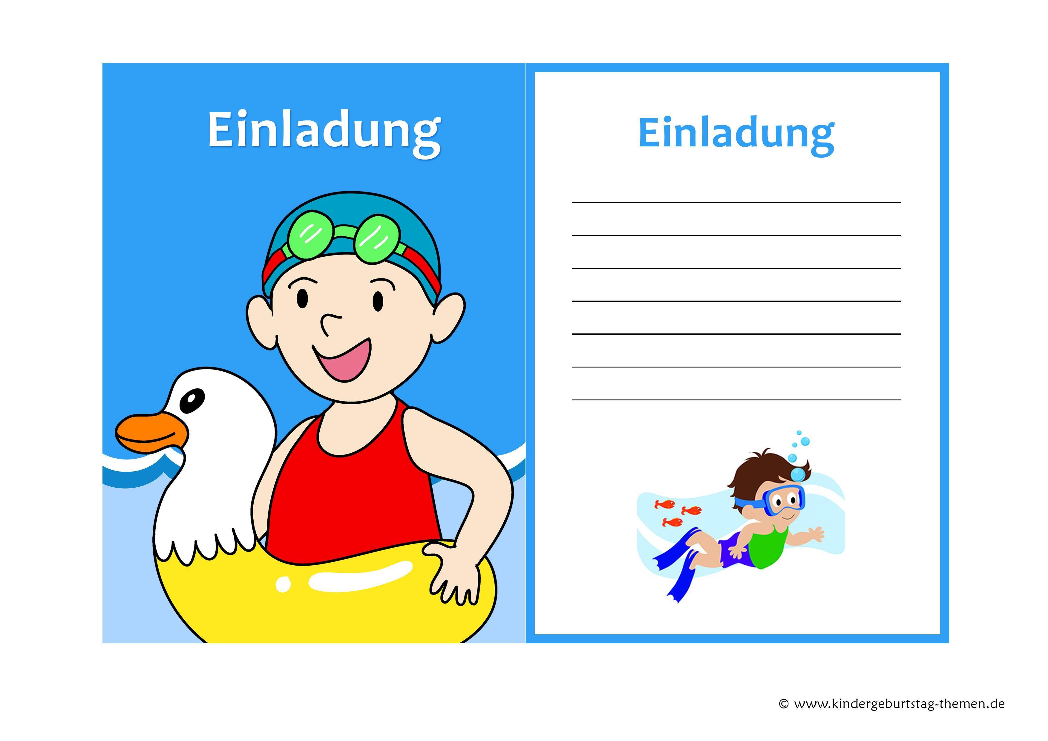 Einladungskarte Kindergeburtstag Kostenlos Ausdrucken