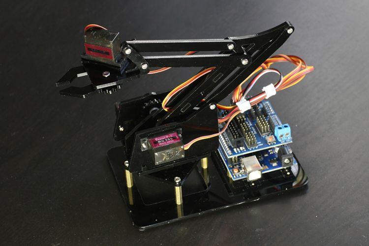 Купить товарРобот diy kit рука робота механическая рука манипулятор в категории Интегральные схемына AliExpress.        Роботизированная рука                   Верхний рычаг       длина       88 мм          ,          180 градусов