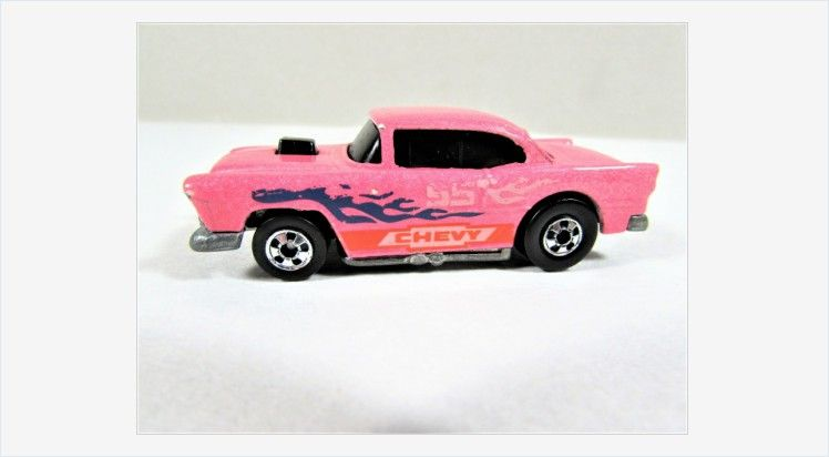 Hot Wheels 55 Chevy Pink Color Changer Black Walls Toy Car