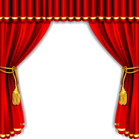 Red Curtain Elements Vector Background 01 Curtains Vector Theatre Curtains Stage Curtains