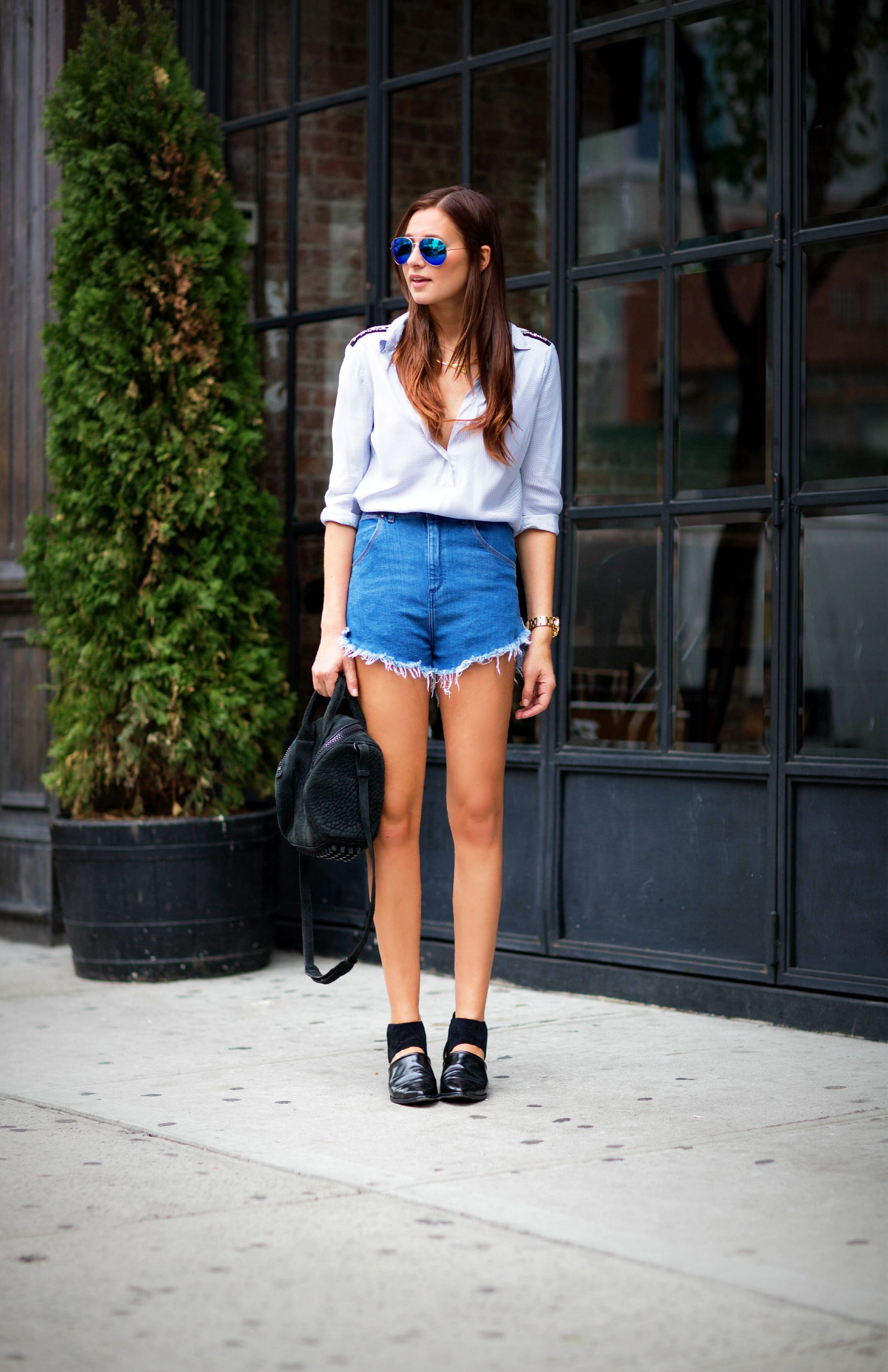 Street fashion: cutoffs