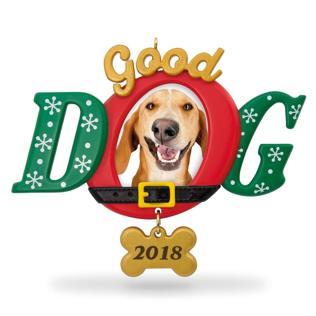 Good Dog Photo Holder 2018 Hallmark Keepsake Christmas
