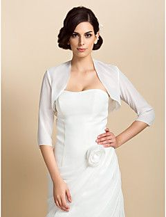 3/4 Sleeve Chiffon Wedding/Party Evening Jackets/Wraps Boler... – USD $ 19.99