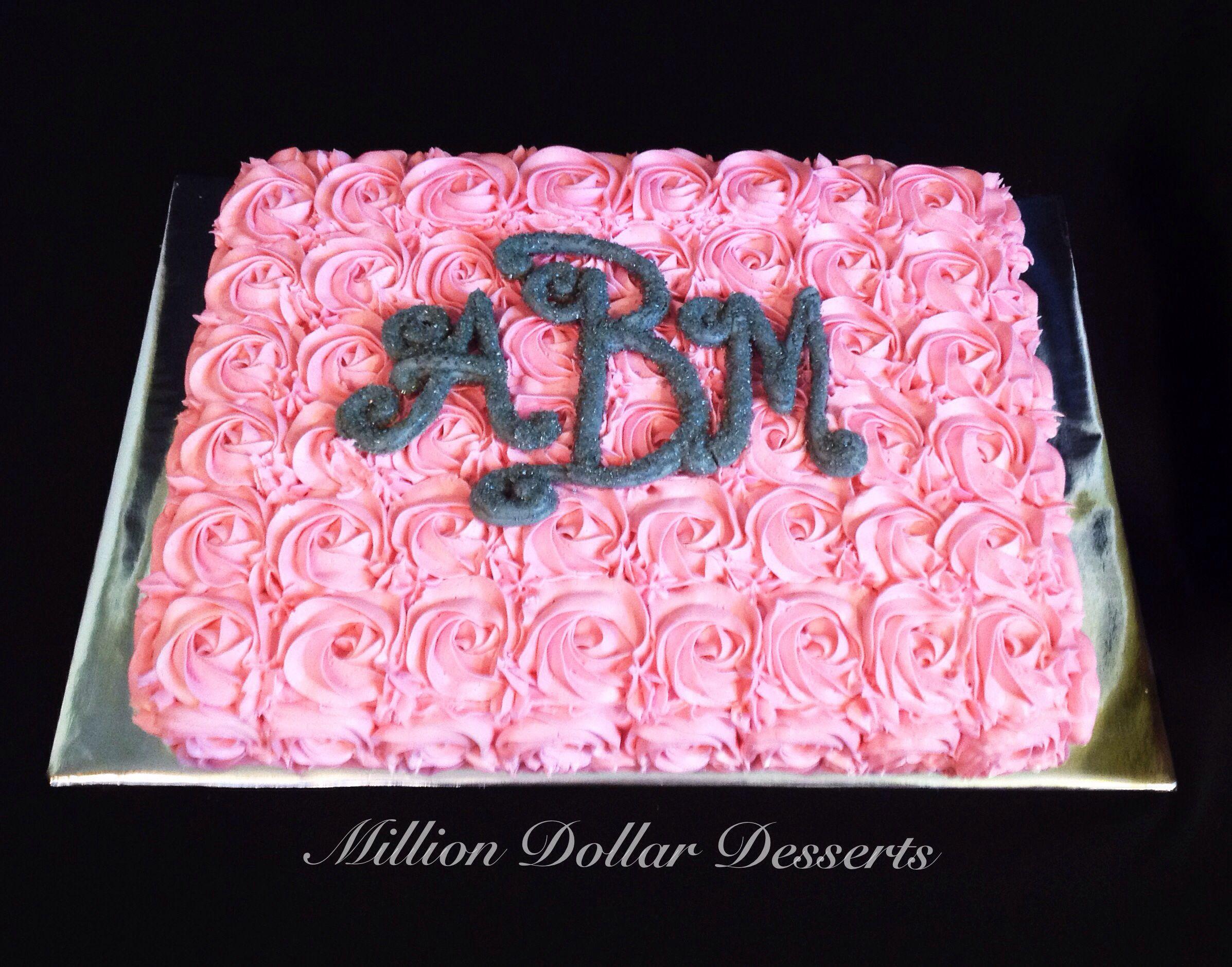 Rosette Sheet Cake Million Dollar Desserts Sheet Cakes
