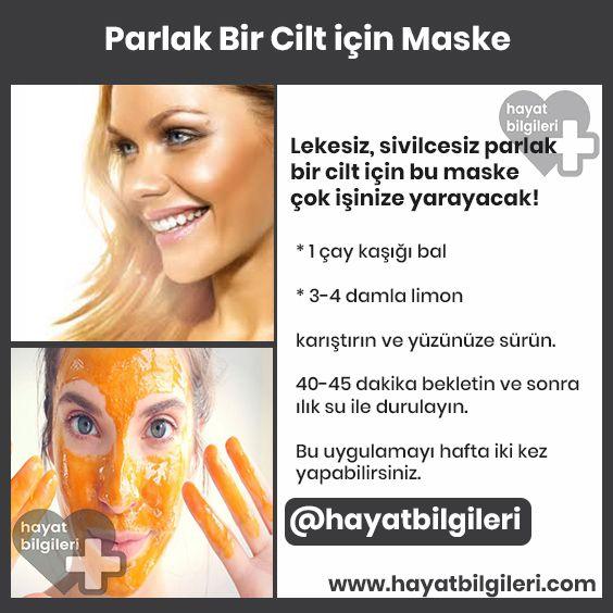 Parlak Cilt için Maske #skincare