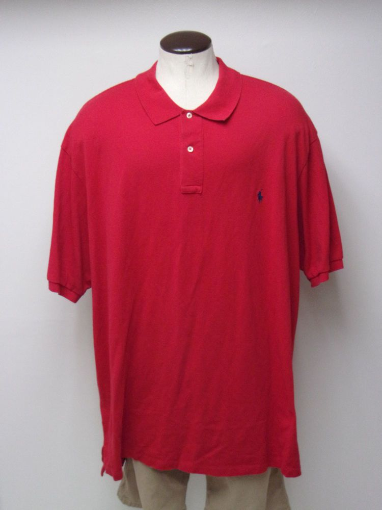 26162426 Men's Polo Ralph Lauren sz 4XLT BIG & TALL Red SS Mesh Polo Shirt FREE  SHIPPING #fashion #clothing #shoes #accessories #mensclothing #shirts (ebay  link)