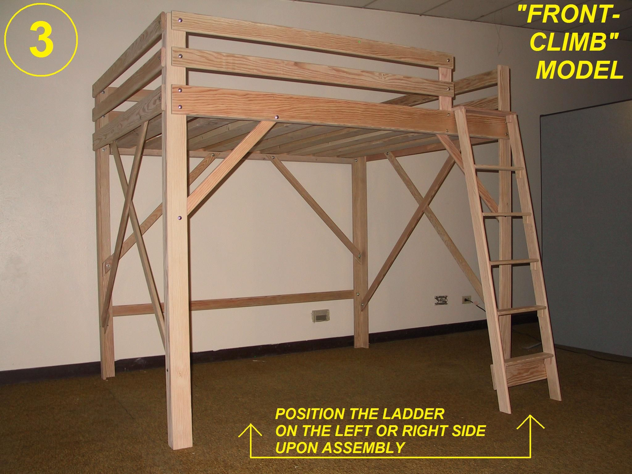 Loft Bed, Twin, Full, Queen, King & Extra Long Loft Beds, Bunk Bed ...