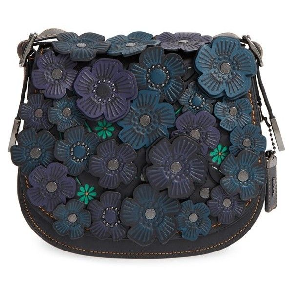 Coach 1941 23 Flower Applique Leather Saddle Bag 490 Liked