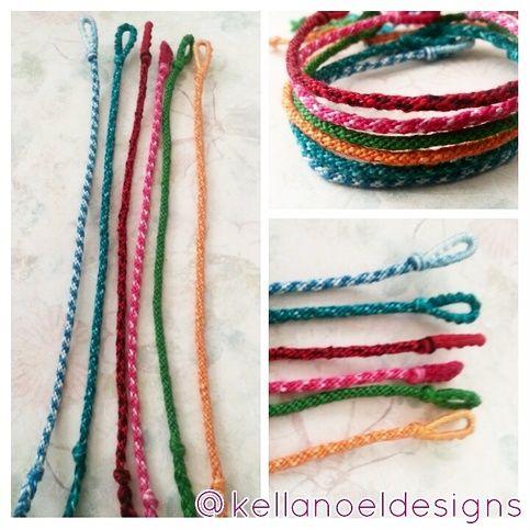 Solid Rope Braid Friendship Bracelets Handmade Friendship Bracelets Braided Friendship Bracelets Embroidery Bracelets
