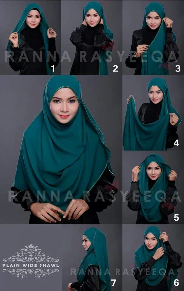 Tutorial Plain Wide Shawl