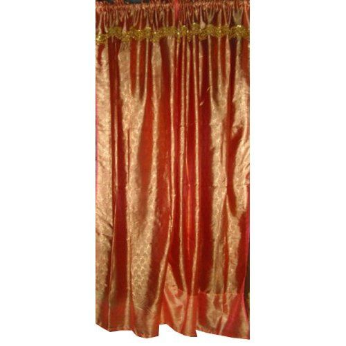Amazon.com: Pair of Rust Silk Sari Curtains Drapes Panels Indian ...