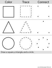 Connect The Colors >> Color Trace Connect Preschool Math Preschool Worksheets