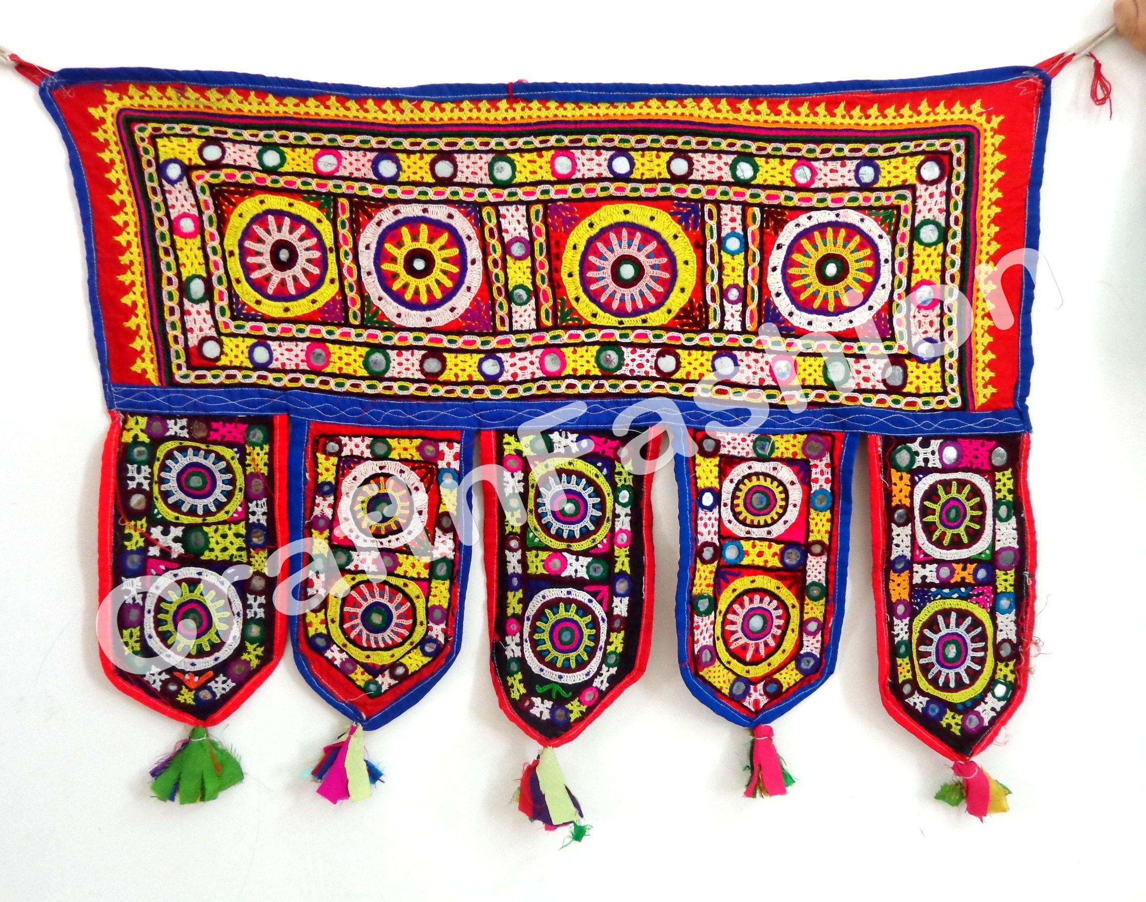 Vintage Banjara Kutchi Work Toran Embroidery Embroidery Vintage