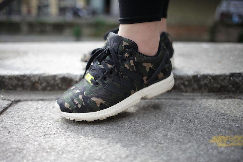 adidas camo shoes zx flux