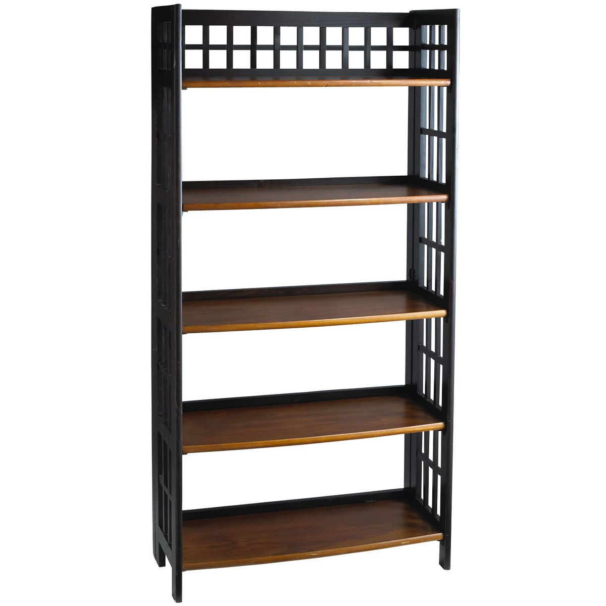Fretted Tall Folding Shelf - Rubbed Black | Pier 1 Imports ...