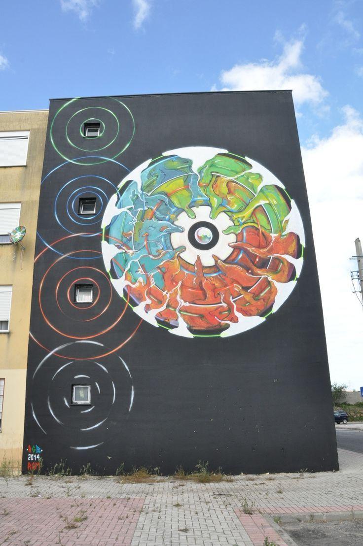 Street Art, Arte Urbana, Graffiti, O Bairro i o Mundo, Quinta do Mocho, Sacavém, Loures, Portugal, Ram.