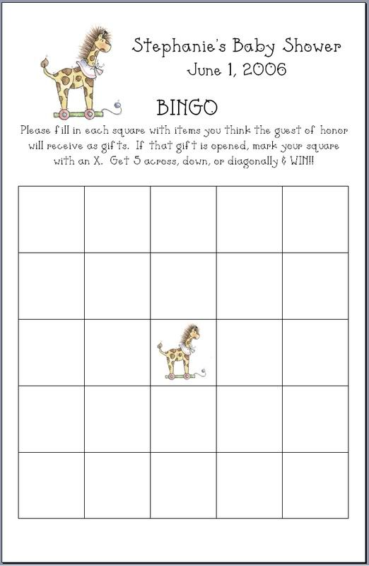 Baby Shower Bingo Party Favors Personalized Ebay 522x800
