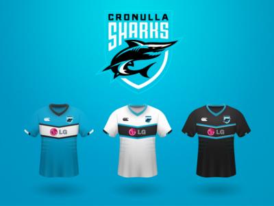 Cronulla Sharks Shark Sports Logo Design Sports Logo