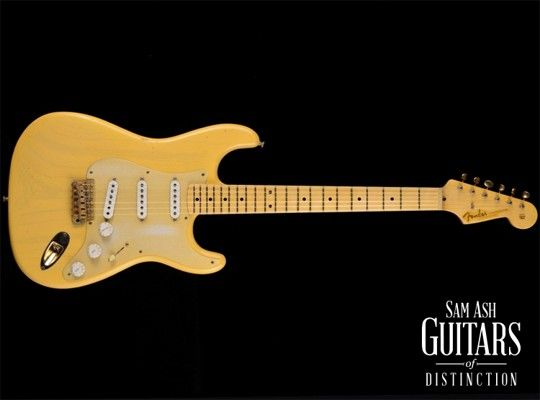 Image for 1956 Relic Stratocaster Electric Guitar (Nocaster Blonde,