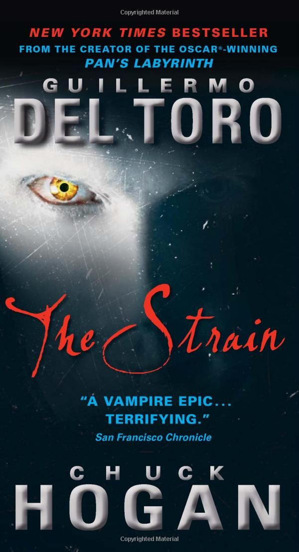 The Strain: Book One of The Strain Trilogy. Almost finished with this. It is awesome. Now I need book two and three!