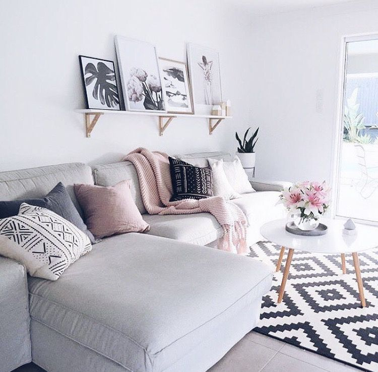 Black And White And Pink Living Room pink and grey living room http://www.publicdesire/?utm_source