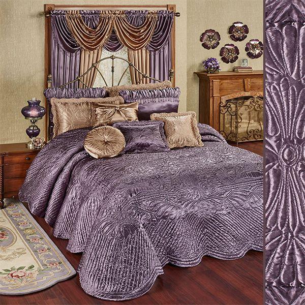 Glorious Bedding Select Item Egyptian Cotton 1000 TC US Sizes Purple Pattern