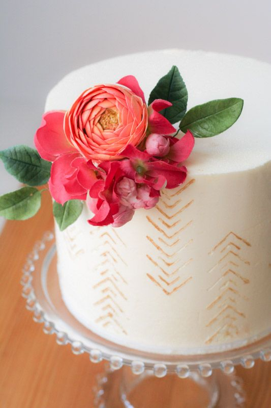 Garden Sugar Flower Class In Nyc Cake Design Inspiration Cake Decorating Butter Cream