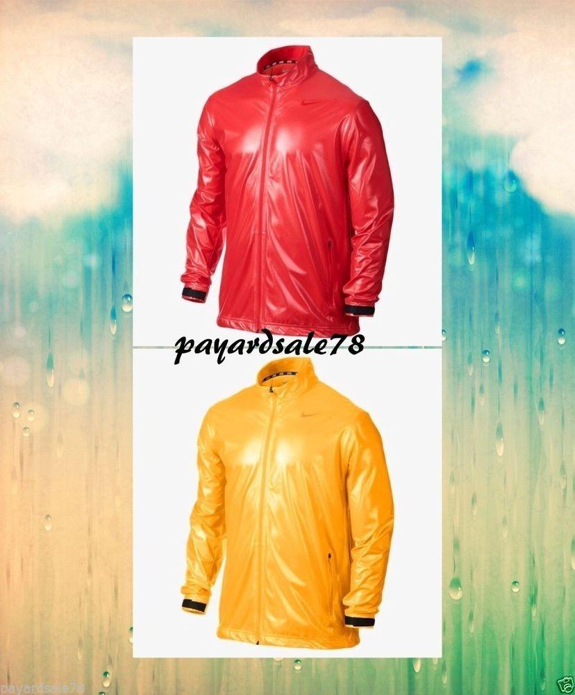 MEN'S NIKE SHIELD WATER REPELLENT JACKET RAIN RUN WINDBREAKER MED LARGE XL 2XL #Nike #CoatsJackets