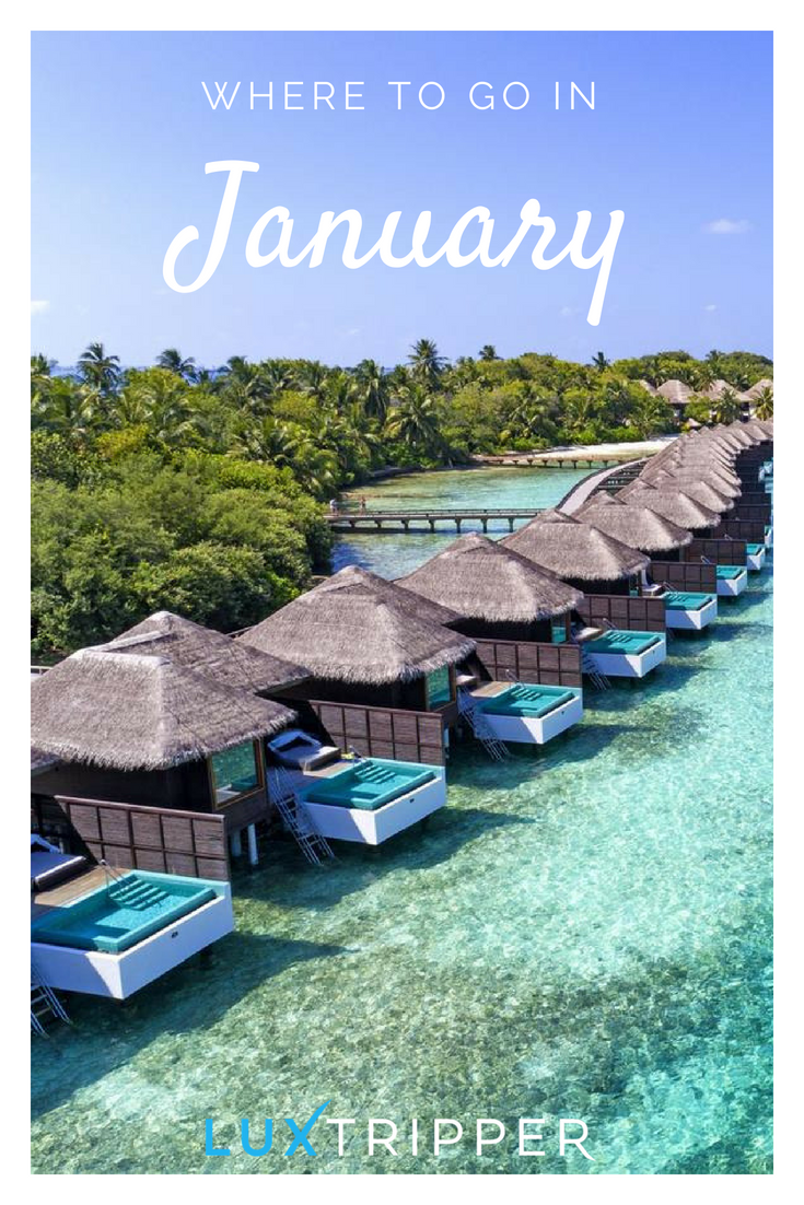 Discover The Best Places To Go In January Luxtripper Luxurytravel Luxury Travel Luxuryholi Holidays In January Best Places To Travel Cool Places To Visit