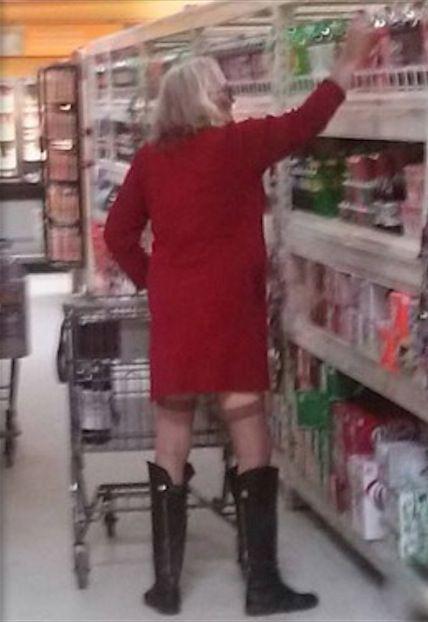 Grandma Wears Black Boots and Stockings to Walmart - Sexy ...