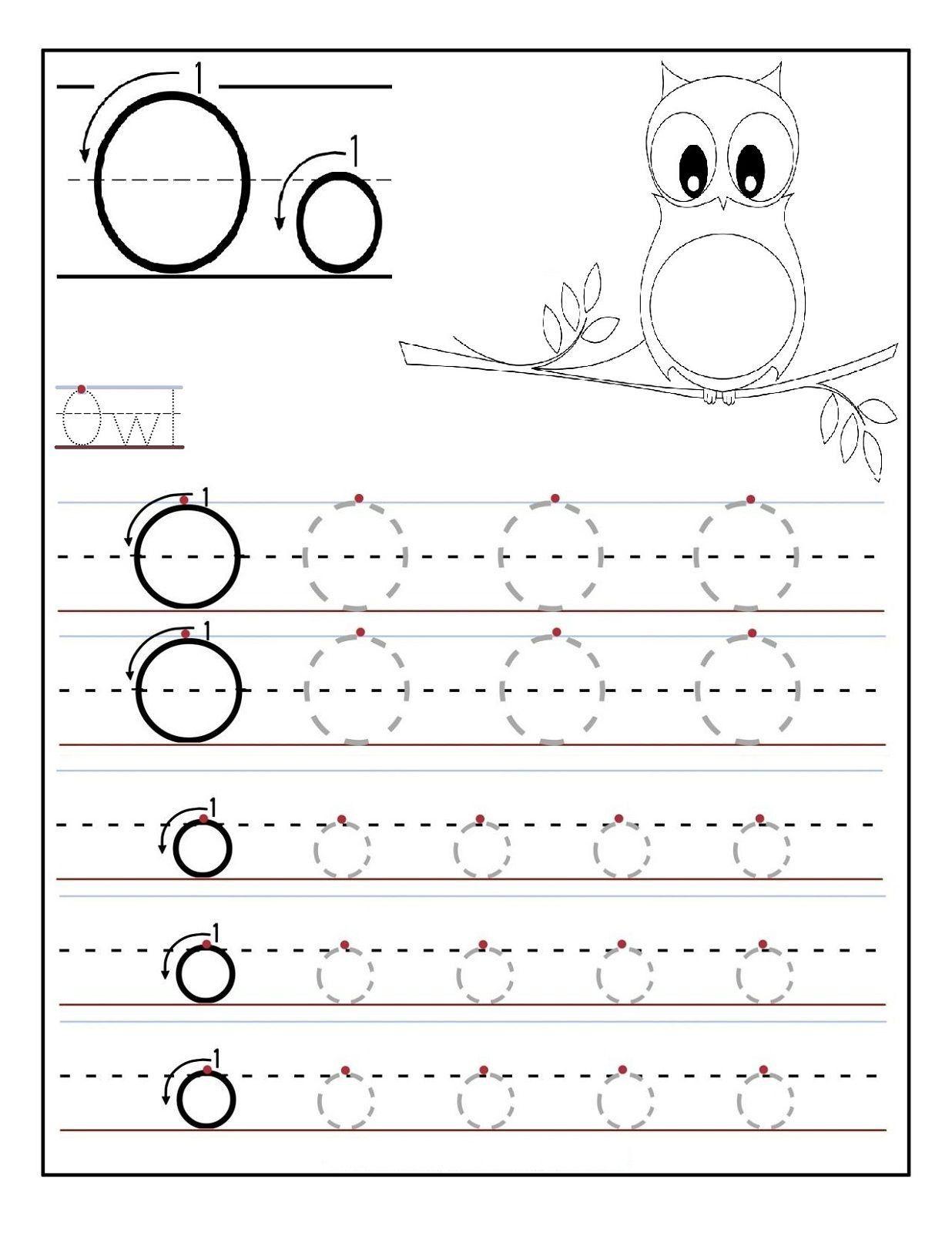 5 Preschool Letter U Tracing Worksheets Letter O