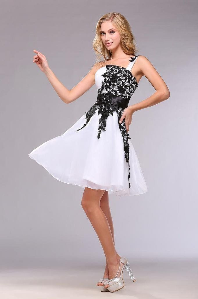 Images of Short Black Lace Prom Dress - Reikian