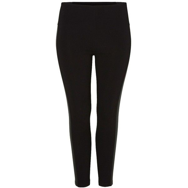 Junarose Plus Solid Leggings ($44) ❤ liked on Polyvore featuring plus size fashion, plus size clothing, plus size pants, plus size leggings, black, plus size, plus size black leggings, black pants, men pants and tapered pants
