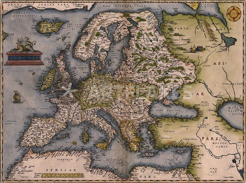Europe Map 1572 Europe Map