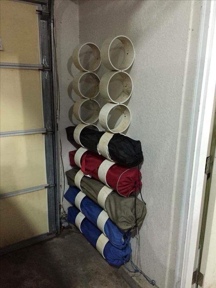 PVC pipe folding chair storage. (picture found on facebook I dont know who to give credit to.) & PVC pipe folding chair storage. (picture found on facebook I dont ...