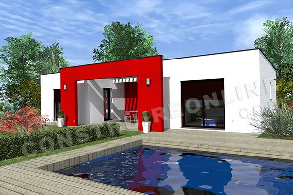 maison contemporaine en u 1 Architecture Pinterest Architecture