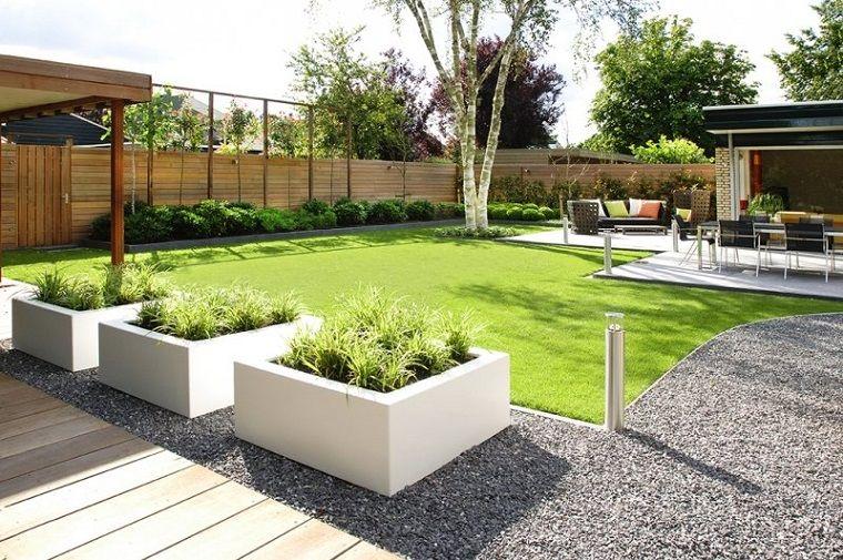 Top Idee giardino fai da te, prato verde e camminamento con ghiaia GO47