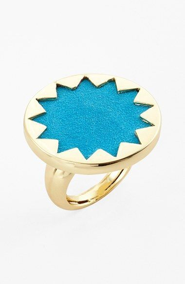 Free shipping and returns on House of Harlow 1960 Sunburst Ring at Nordstrom.com. A gleaming sunburst cutout frames the stingray-embossed leather setting of a neutral yet avant-garde statement ring.