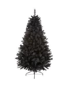 7ft black regal fir christmas tree with metal stand christmas