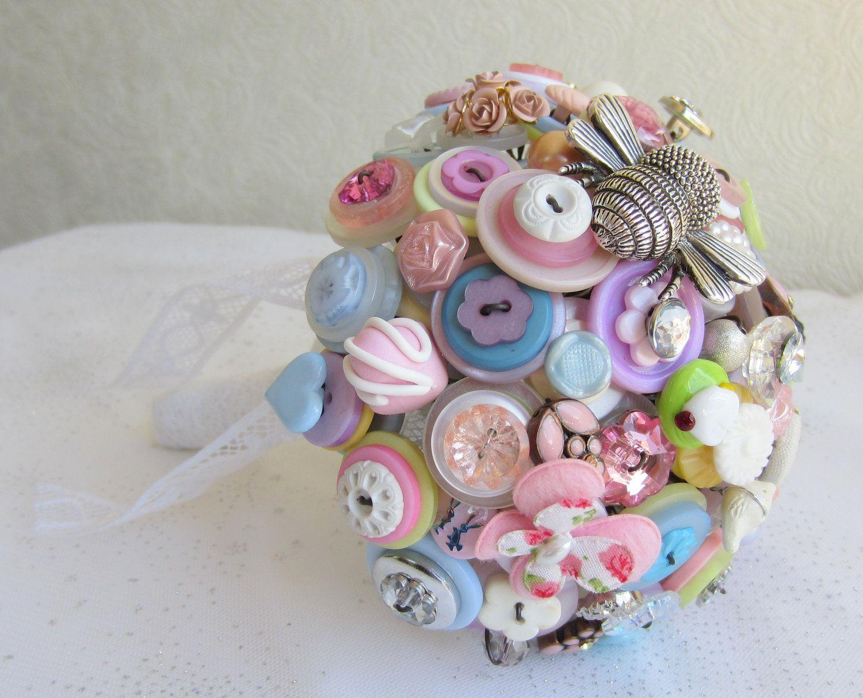 Button Bouquet Beaded bouquet