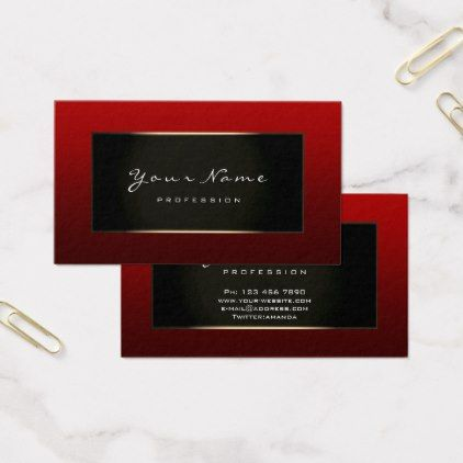 Fashion Blogger Framed Black Gold Burgundy Maroon Business Card Zazzle Com Fashion Blogger Stylist Business Cards Business Cards Minimal
