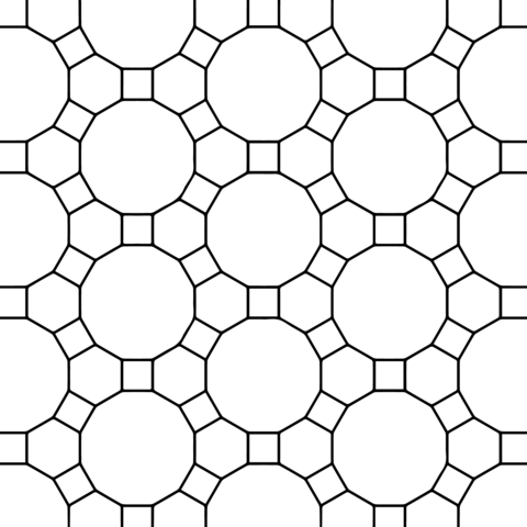 Tessellation with Hexagon, Dodecagon and Square Coloring