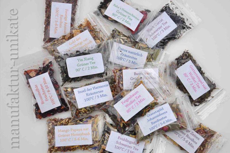 24 Sorten frischer loser Tee für Adventskalender von manufaktur-unikate auf DaWanda.com