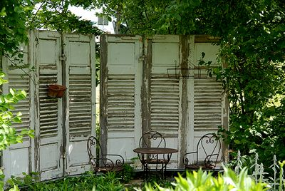 sichtschutz der anderen art garten pinterest gardens fences and garden fencing. Black Bedroom Furniture Sets. Home Design Ideas