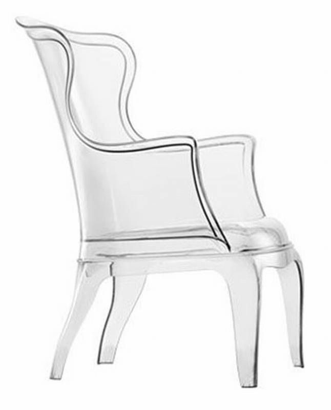 clear pasha chair by pedrali.